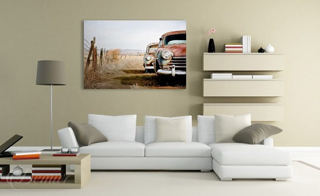 At-the-car-dealers-living-room-canvas-prints-demur