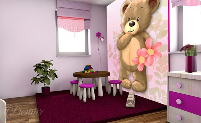 A-teddy-bear-girls-room-wallpapers-demur