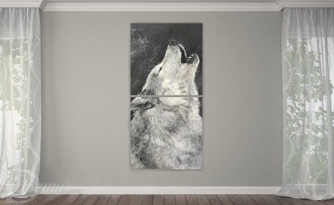 The-howling-wolf-animals-canvas-prints-demur