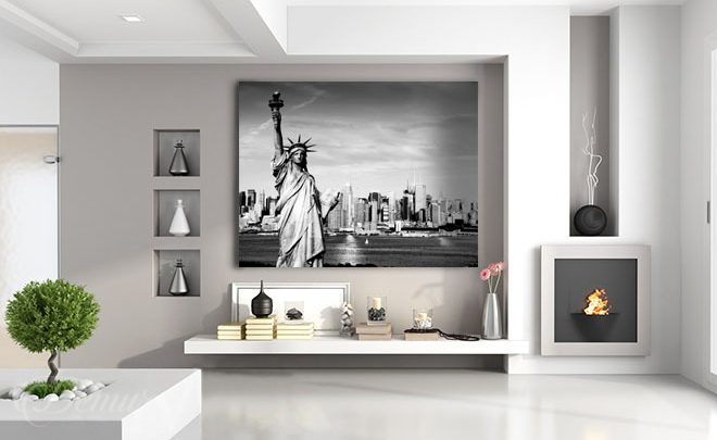 The-new-york-maid-black-and-white-canvas-prints-demur