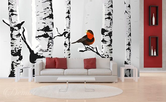 Singing-on-a-birch-tree-scandinavian-style-wallpapers-demur