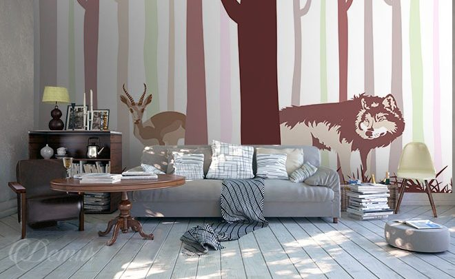 The-animal-monkey-tricks-scandinavian-style-wallpapers-demur