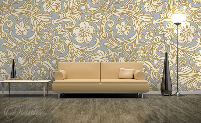 A-flowery-patter-classic-style-wallpapers-demur