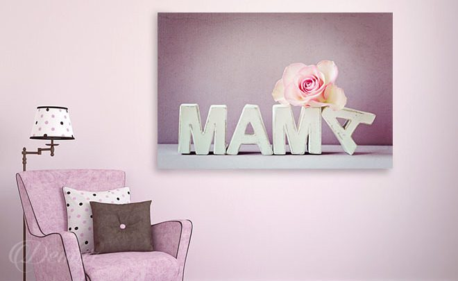 A-mom-with-a-rose-living-room-canvas-prints-demur