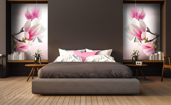 With-the-magnolia-queen-in-the-centre-bedroom-wallpapers-demur
