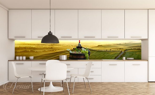 The-landscapes-in-yellow-and-green-kitchen-wallpapers-demur